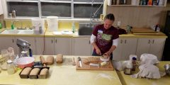 Back to Basics - How to Make Healthy Homemade Bread - fresh-baked bread right out of the oven...with butter...yum!